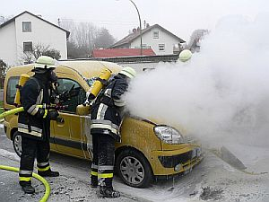 Feuerlöscher Auto Brand