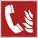 Brandschutzzeichen-Brandmeldetelefon