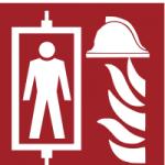 Brandschutzzeichen-Feuerwehraufzug